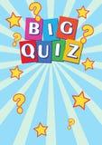 Big Quiz Poster Leaflet Flyer Royalty Free Stock Images