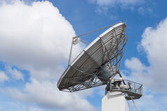 Big radar parabolic radio antenna global information data stream Royalty Free Stock Images