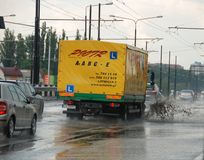 Big rain in Lublin, Poland - July 5, 2013 Stock Photos