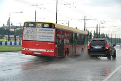 Big rain in Lublin, Poland - July 5, 2013 Stock Photography