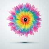 Big rainbow flower with speaker. Big rainbow flower with golden speaker. vector illustration eps10 Stock Photography
