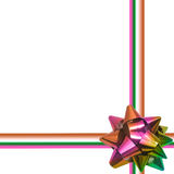 Big rainbow holiday bow on white background Royalty Free Stock Image