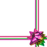 Big rainbow holiday bow on white background Royalty Free Stock Images