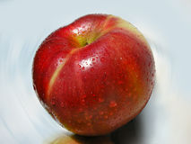 Big Rape Red Apple With Dew Royalty Free Stock Photos