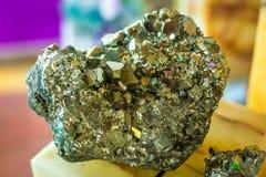 Big rare Pyrite mineral close up macro royalty free stock images