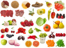 Big raw food collection Royalty Free Stock Photography