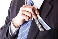 Big razor in pocket Royalty Free Stock Photo