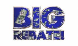 Big Rebate Get Tax Refund Money Back Words Stock Images