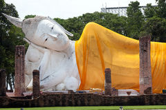 Big reclining buddha Stock Photography