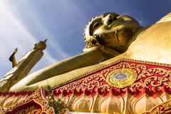 Big Reclining Buddha And Standing buddha  in Wat Mokkanlan , Cho Stock Images