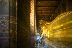 Big reclining buddha at Wat Pho temple in Bangkok Royalty Free Stock Photos
