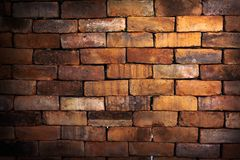 Big rectangle brick wall Stock Images