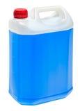Big rectangular volume with blue liquid Stock Photos
