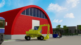 Big red hangar Royalty Free Stock Photos