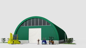 Big red hangar Royalty Free Stock Photography