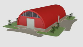 Big red hangar Royalty Free Stock Image