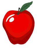 Big Red Apple. A classic icon for many uses! The Big Red Apple  vector is in easy edit layers and is AI-EPS8 format Royalty Free Stock Photography