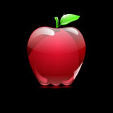 Big red apple from glass Royalty Free Stock Images