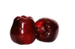 Big red apples Stock Images