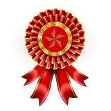 Big Red Award Label Royalty Free Stock Photography