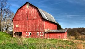 Big Red Barn Stock Photography