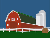 Big Red Barn Stock Image
