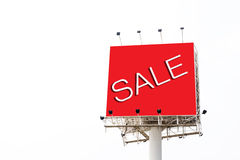 Big red billboard with word sale Stock Photo