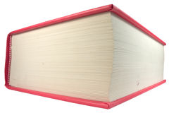Big red book. Angle of single big red book Royalty Free Stock Photography