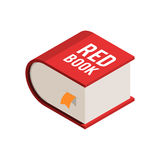 Big red book isometric icon Stock Photography