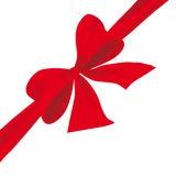 Big red bow Royalty Free Stock Photo