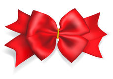 Big red bow Royalty Free Stock Photos