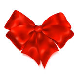 Big red bow Stock Photo
