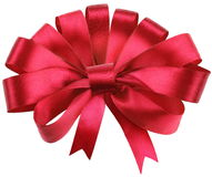 Big red bow isolated on white. Royalty Free Stock Photo