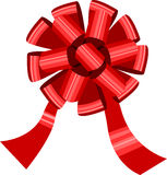 Big red bow isolated on white Stock Image
