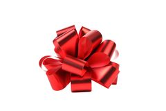 Big red bow. Stock Images
