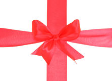 The big red bow from tape Stock Photos