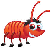 Big Red Bug With A Grin Crawling. A big red bug with a big grin in crawling pose stock illustration