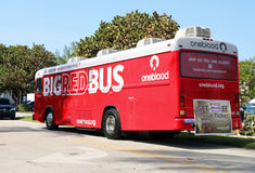 Big Red Bus Stock Images