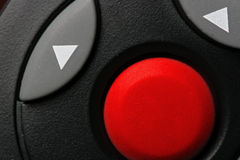 Big red button Stock Photos