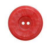 Big red button on white background Stock Photo