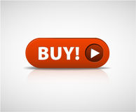 Big red  buy now button Royalty Free Stock Images