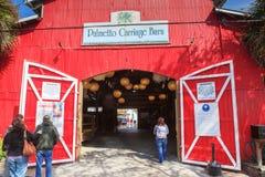 Big Red Carriage Barn Charleston SC Royalty Free Stock Image
