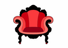 Big red chair. Vector illustration of a chair, EPS 8 file Royalty Free Illustration