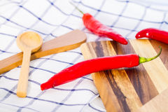 Big red chili Royalty Free Stock Images