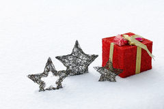 The big red Christmas present Royalty Free Stock Photo