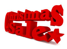 Big red Christmas sale, 3d rendering Royalty Free Stock Image
