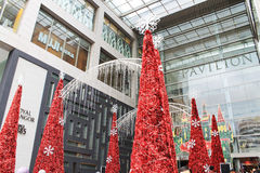 Big red Christmas trees Royalty Free Stock Photography