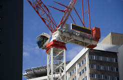 Big Red Crane Royalty Free Stock Images