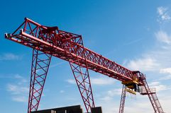 Big red crane Stock Image
