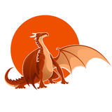 Big red dragon Stock Images
